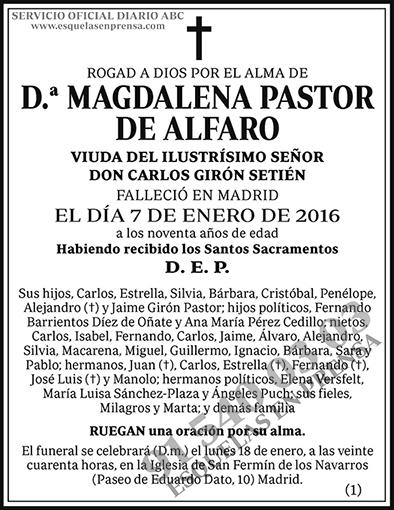 Magdalena Pastor de Alfaro
